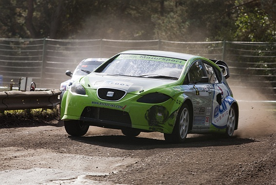 Geen podium maar wel een tevreden Ron Snoeck na laatste BK Rallycross 2012