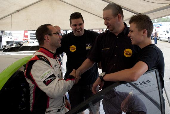 Ron Snoeck gehuldigd voor Nederlands Kampioenschap Rallyracing 2012